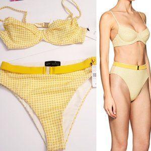 NWT $200 ONIA WeWoreWhat Yellow Bikini Set MEDIUM
